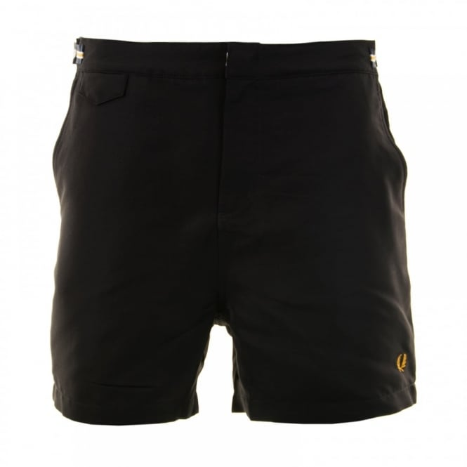 Fred Perry Mens Classic Swim Shorts (Black)