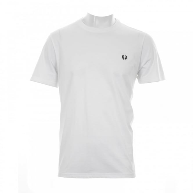 Fred Perry Mens Crew Neck T-Shirt (White)