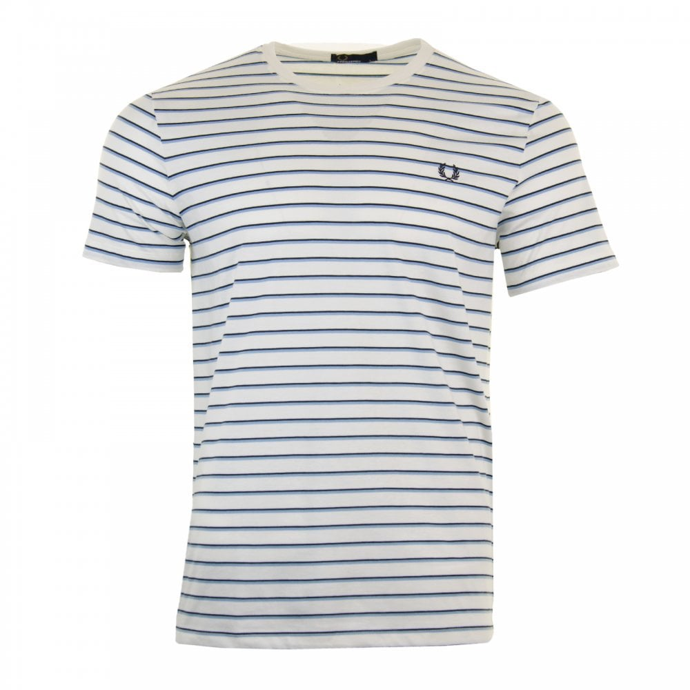 f5d771e4a Fred Perry Mens Fine Stripe T-Shirt (Ecru) - Mens from Loofes UK