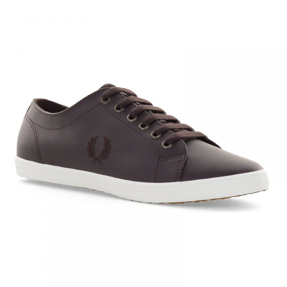 Kingston Leather Plimsolls In Brown - 114 Fred Perry