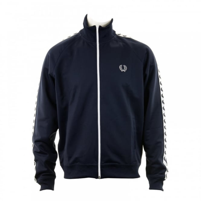 Fred Perry Mens Laurel Wreath Track Jacket (Carbon Blue)