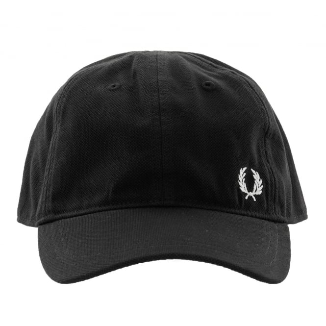 Fred Perry Mens Pique Classic Cap (Black)