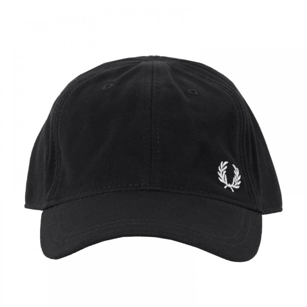 Fred Perry Mens Pique Classic Cap (Black) - Mens from Loofes UK 7e86f883472
