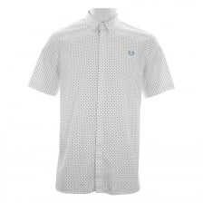 Fred Perry Mens Polka Dot Shirt (White)