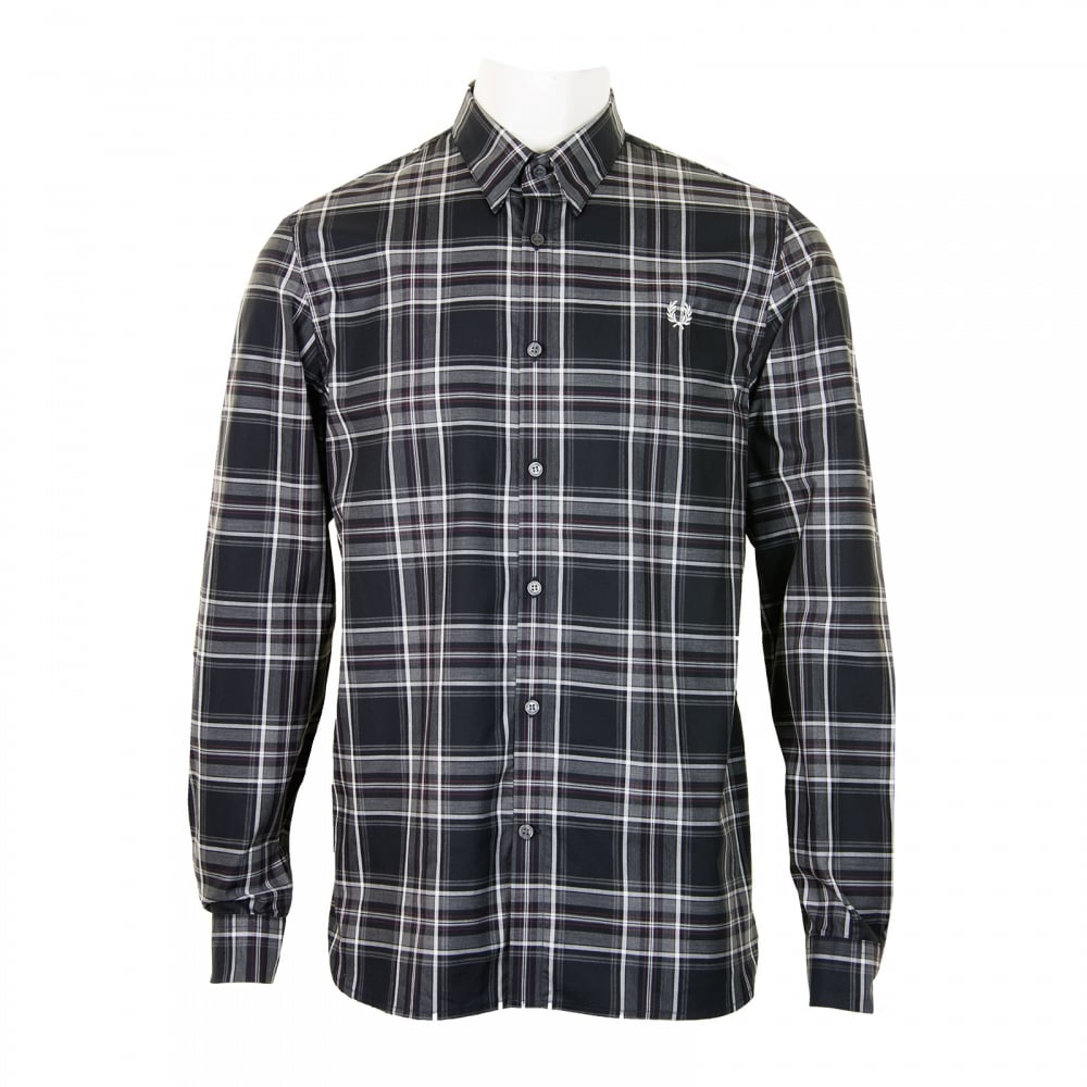 Fred perry tartan shirt loofes clothing Fred perry mens shirts sale