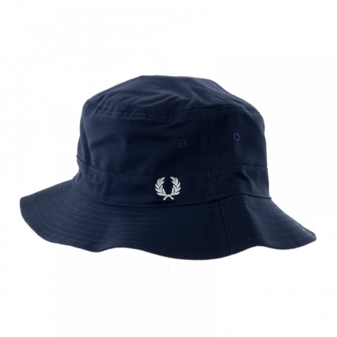 Fred Perry Mens Reversible Fisherman Hat (Light Smoke Oxford)