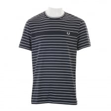 Fred Perry Mens Stripe T-Shirt (Navy)