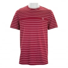 Fred Perry Mens Stripe T-Shirt (Red)
