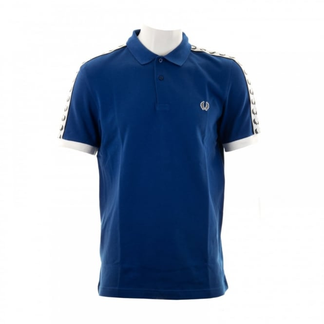 Fred Perry Mens Taped Sleeve Polo Shirt (Regal)