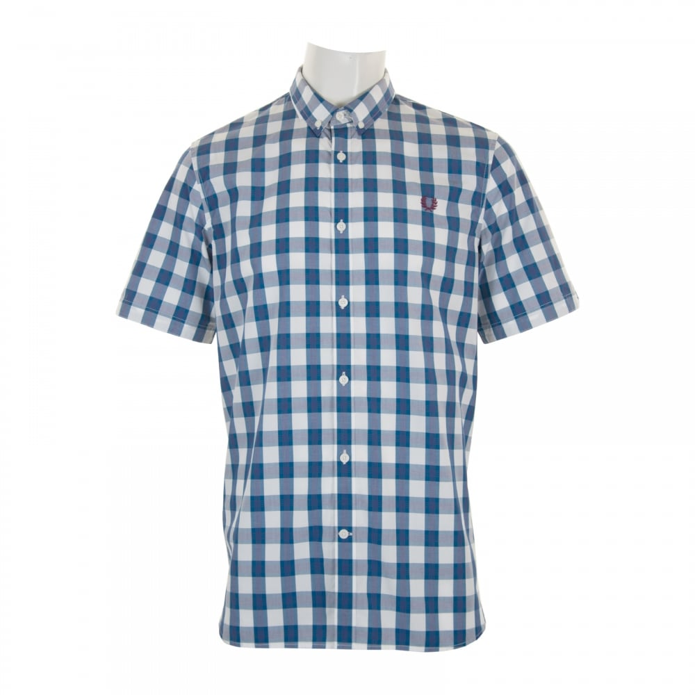 Fred Perry Mens Tartan Gingham Check Shirt (White) - Mens ...