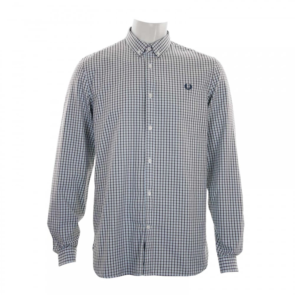 Fred perry mens three colour shirt light blue mens for Fred perry mens shirts sale