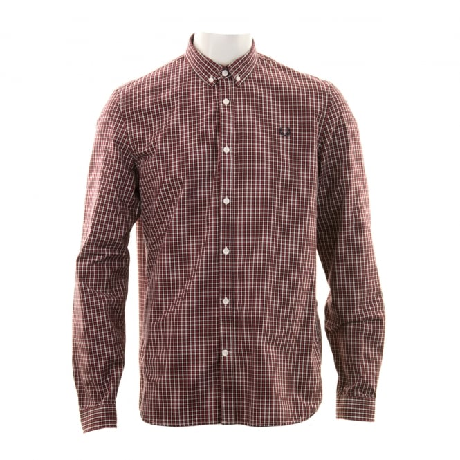Fred Perry Mens Three Colour Shirt (Red)