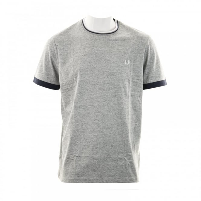 Fred Perry Mens Tipped Ringer T-Shirt (Vintage Steel Marl)
