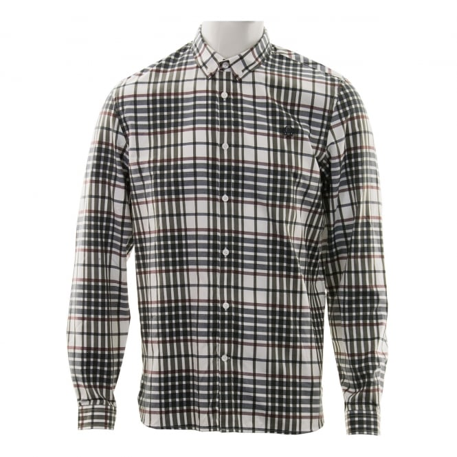 Fred Perry Mens Twill Check Shirt (White)