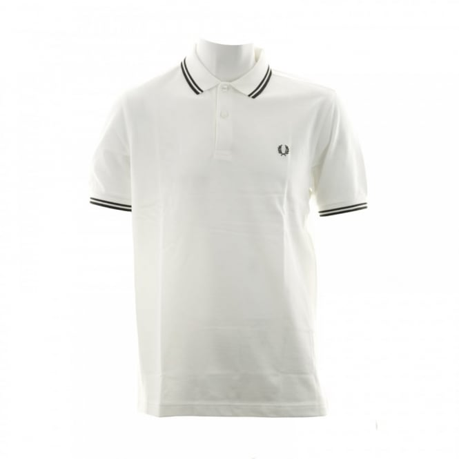 Fred Perry Mens Twin Tipped Collar Polo Shirt (Cream)