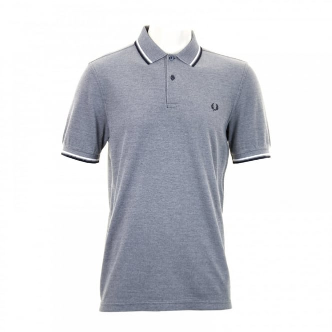 Fred Perry Mens Twin Tipped Collar Polo Shirt (Indigo)