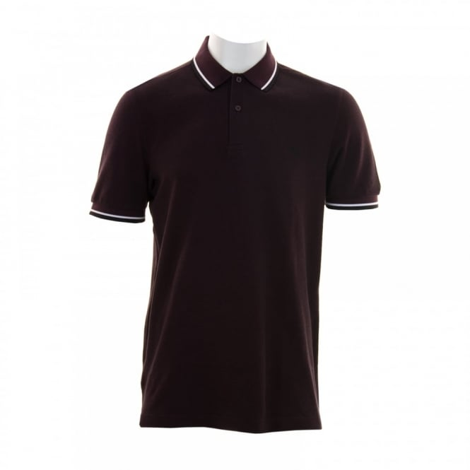 Fred Perry Mens Twin Tipped Collar Polo Shirt (Mahogany)