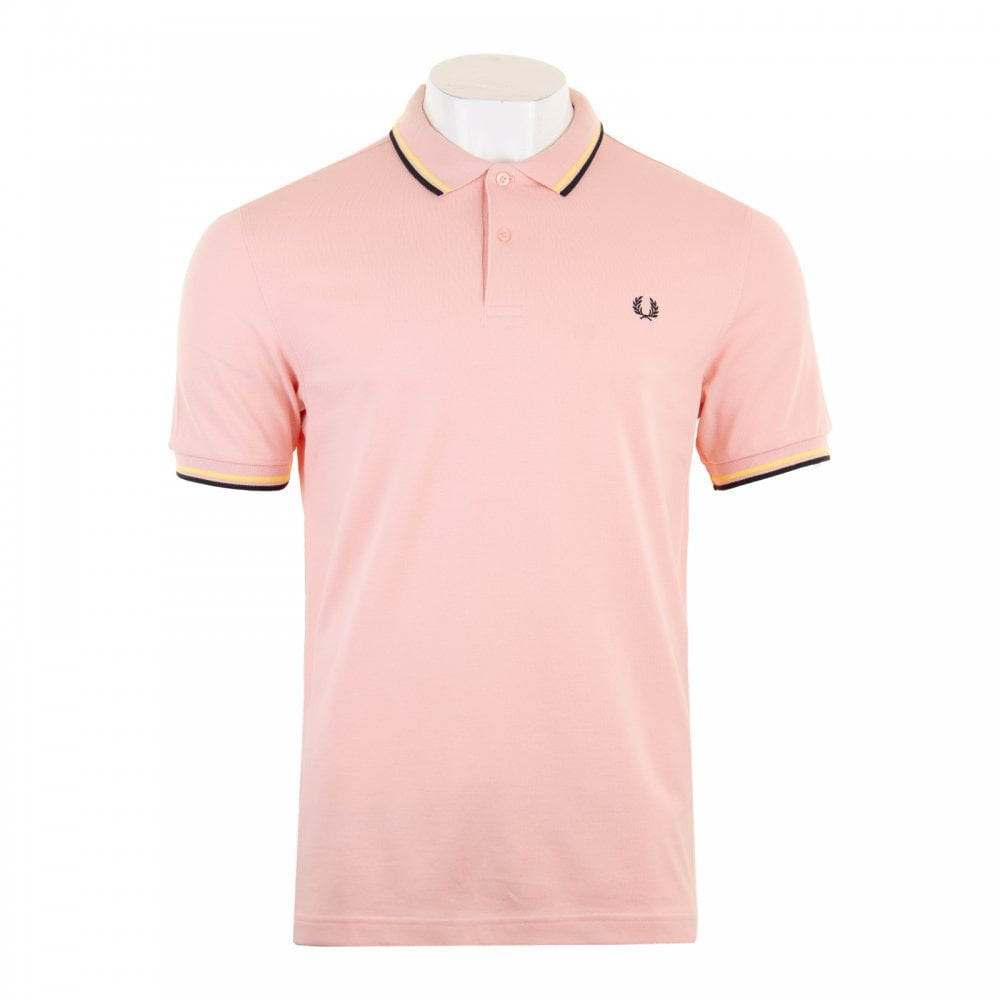 7e984fcf4 Fred Perry Mens Twin Tipped Collar Polo Shirt (Pink) - Mens from ...
