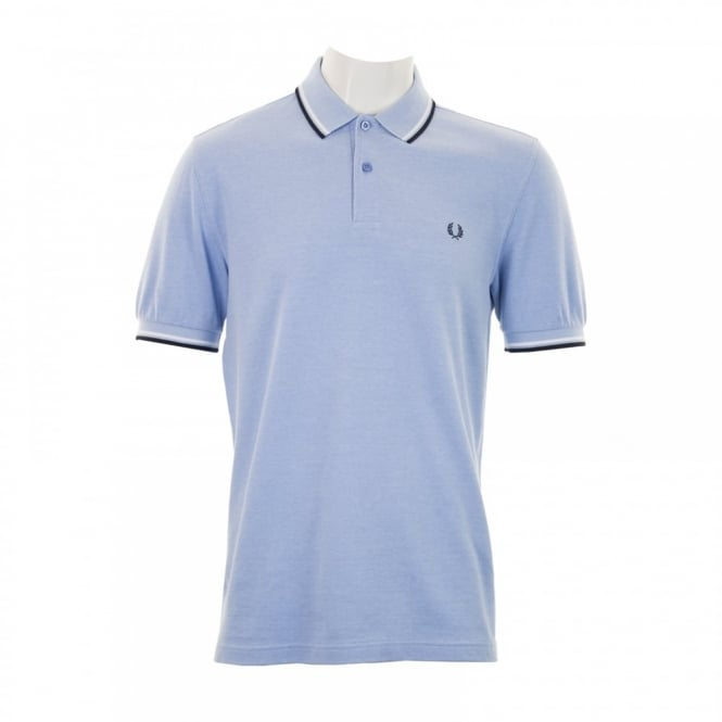 Fred Perry Mens Twin Tipped Collar Polo Shirt (Sky)