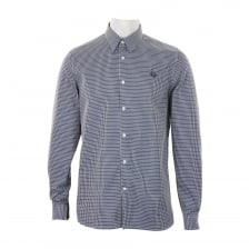 Fred Perry Mens Woven Pattern Shirt (Navy)