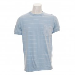 French Connection Mens Battle Stripes Tee-Shirt (Blue)