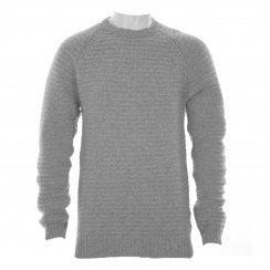 Gant Mens Chunky Lambswool Knit Sweater (Grey Melange)