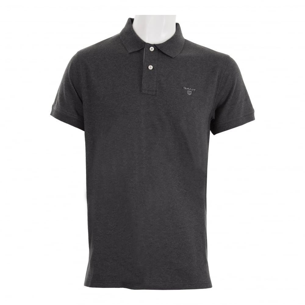 Gant Mens Contrast Collar Rugger Polo Shirt (Grey)
