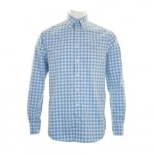 GANT Mens Easy Care Gingham Check Shirt (Blue)