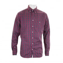 GANT Mens Heather Oxford Check Shirt (Wine)