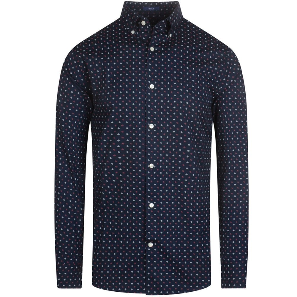 Gant Men/'s Micro Scribble Print Shirt Navy