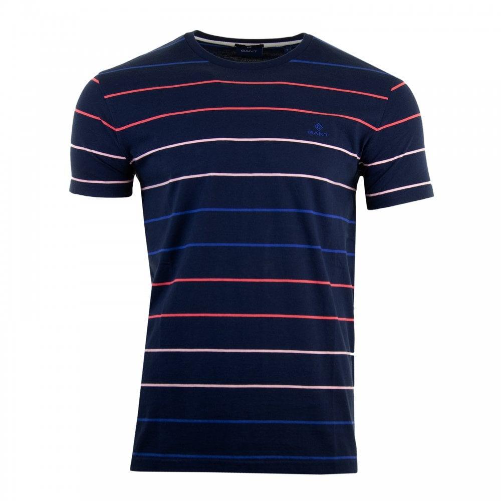 f7613e11049 GANT Gant Mens Multi Stripe T-Shirt (Blue) - Mens from Loofes UK