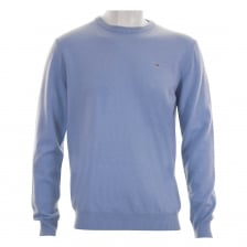 Gant Mens Super Fine Lambswool Crew Neck Knit Sweater (Sky)