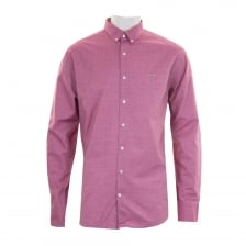 GANT Mens Tech Prep Twill Dobby Shirt (Raspberry)
