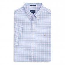 9f1c060fccc Gant Mens The B-Cloth 3 Column Gingham Check Shirt (Blue)