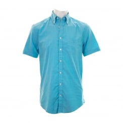 GANT Mens The Washed Pinpoint Oxford Shirt (Sage Blue)