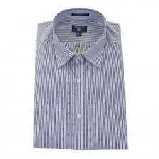 Gant Mens Winter Banker Pattern Shirt (Blue)