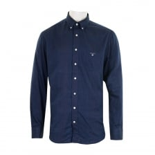 GANT Mens Winter Double Face Check Shirt (Indigo)