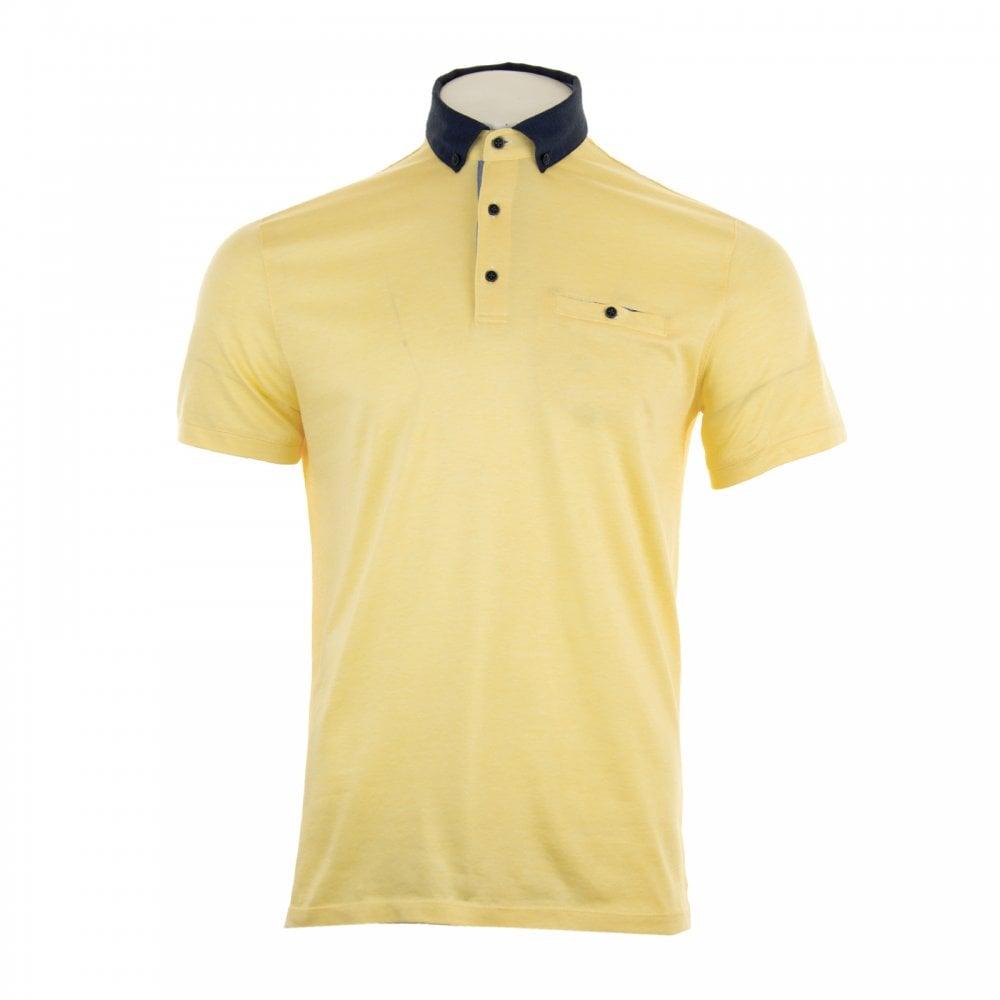 fa18bd7bd GIORDANO Giordano Mens Casa Short Sleeved Polo Shirt (Yellow) - Polo ...