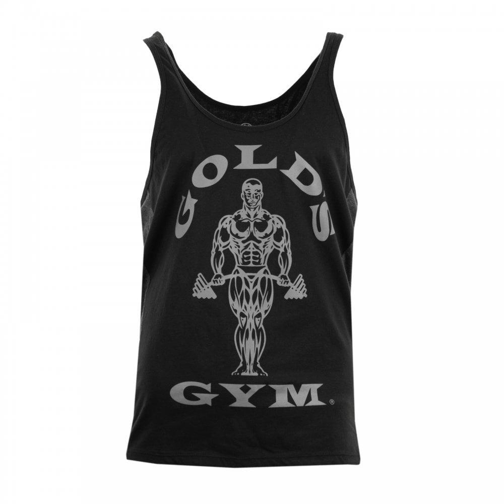345c5864c6df4 Golds Gym Mens Muscle Joe Tonal Panel Vest (Black) - Mens from Loofes UK