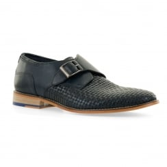 Goodwin Smith Mens Helmshore Monk Strap Shoes (Navy)