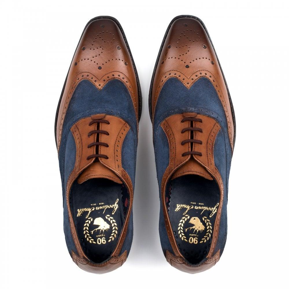 8e2ce700718 Goodwin Smith Goodwin Smith Mens Jason Two Tone Oxford Brogue Shoes (Tan /  Navy)