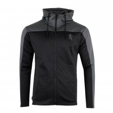 Gym King Mens Capo Panel Poly Track Top (Black Grey) 0a5566334