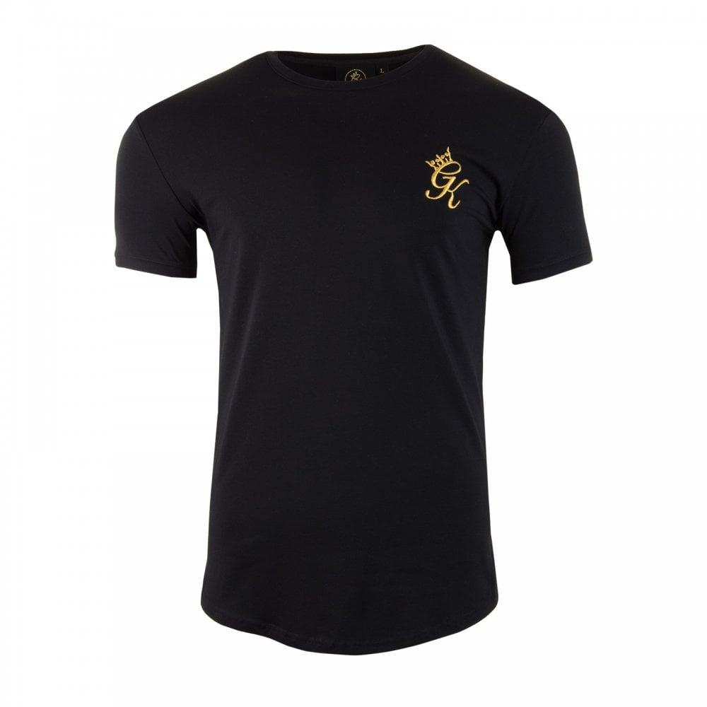 Gym king gym king mens long line short sleeve t shirt for Long line short sleeve t shirt