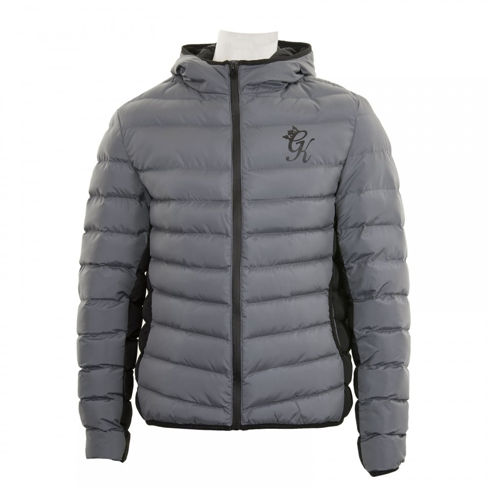 Gym King Gym King Mens Puffer Jacket Steel Mens From