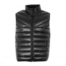Gym King Mens Reign Quilted Gilet (Black)