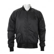 Gym King Mens Stealth Bomber Jacket (Black)