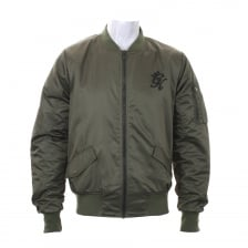 Gym King Mens Stealth Bomber Jacket (Khaki)