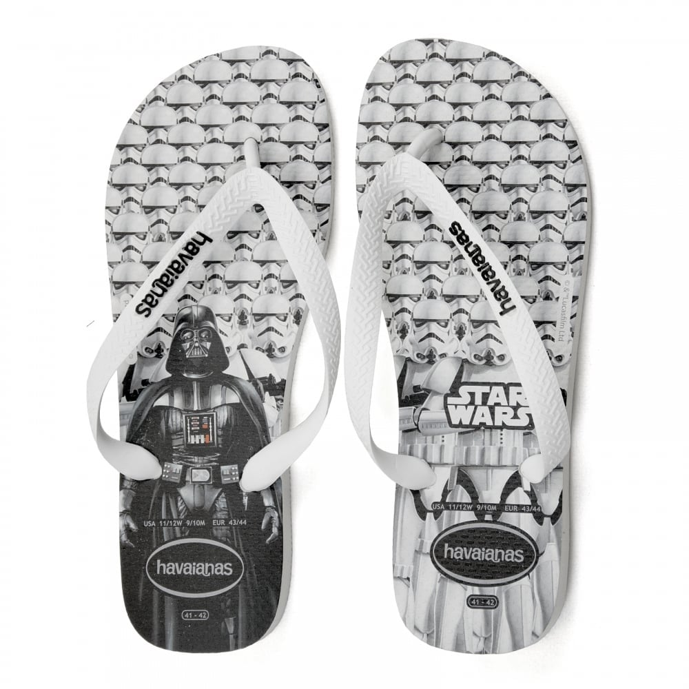 a0c4e94c9afb1a Havaianas Mens Star Wars Flip Flops (White) - Mens from Loofes UK