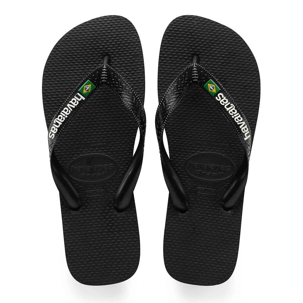 d6942924c Havaianas Unisex Brazil Logo Flip Flops (Black) - Womens from Loofes UK