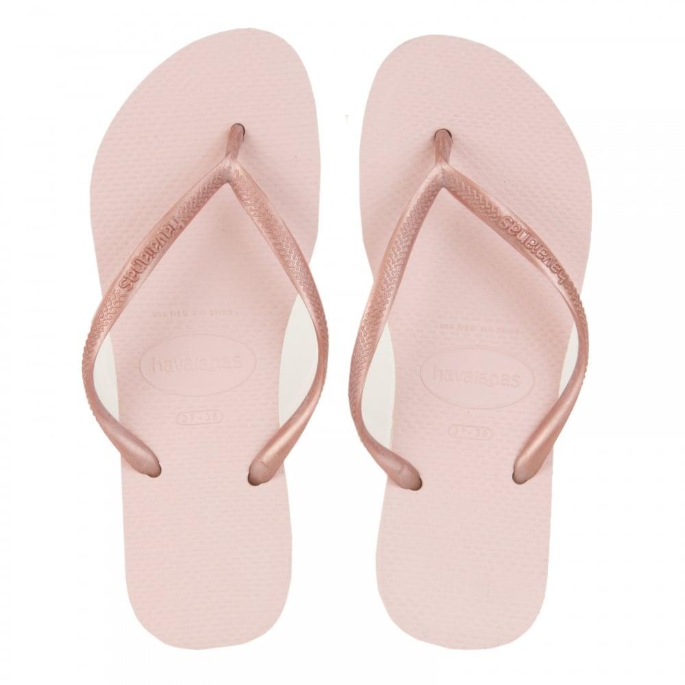 Havaianas Womens Slim Ballet Flip Flops (Rose)